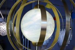 Glustin Luminaires Glustin Luminaires Creation Alabaster Suspension with Brass Rings - 714927