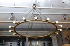 Glustin Luminaires Glustin Luminaires Creation Brass Hoop Chandeliers - 728681