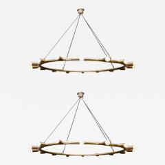 Glustin Luminaires Glustin Luminaires Creation Brass Hoop Chandeliers - 729156