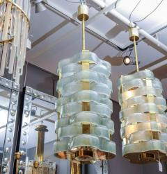 Glustin Luminaires Glustin Luminaires Creation Brass Lanterns with Murano Ribbons - 714940
