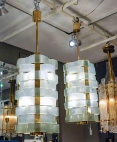 Glustin Luminaires Glustin Luminaires Creation Brass Lanterns with Murano Ribbons - 714941