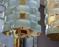 Glustin Luminaires Glustin Luminaires Creation Brass Lanterns with Murano Ribbons - 714942