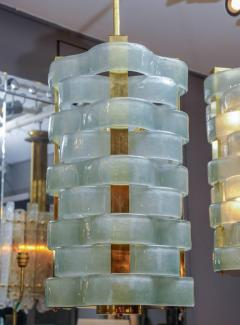 Glustin Luminaires Glustin Luminaires Creation Brass Lanterns with Murano Ribbons - 714943