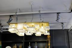 Glustin Luminaires Glustin Luminaires Creation Brass and Alabaster Tiles Ceiling Lamp - 720633