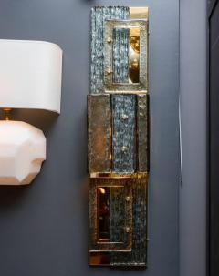 Glustin Luminaires Glustin Luminaires Creation Brass and Murano Glass Panels - 721520