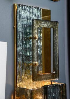 Glustin Luminaires Glustin Luminaires Creation Brass and Murano Glass Panels - 721522