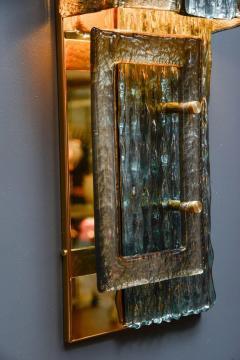 Glustin Luminaires Glustin Luminaires Creation Brass and Murano Glass Panels - 721525