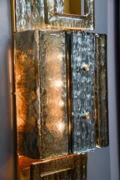 Glustin Luminaires Glustin Luminaires Creation Brass and Murano Glass Panels - 721526