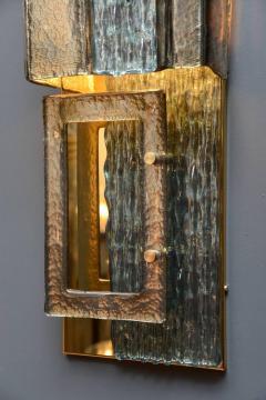Glustin Luminaires Glustin Luminaires Creation Brass and Murano Glass Panels - 721527