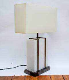 Glustin Luminaires Glustin Luminaires Creation Pair of Brass and Alabaster Cage Table Lamps - 716280