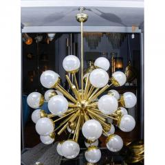 Glustin Luminaires Glustin Luminaires Sputnik Chandelier with Iridescent Globes - 736056