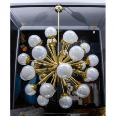 Glustin Luminaires Glustin Luminaires Sputnik Chandelier with Iridescent Globes - 736057
