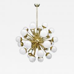 Glustin Luminaires Glustin Luminaires Sputnik Chandelier with Iridescent Globes - 737233