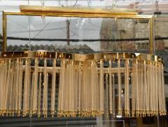 Glustin Luminaires Unique Glustin Luminaires Creation Brass and Glass Rods Chandelier - 720661