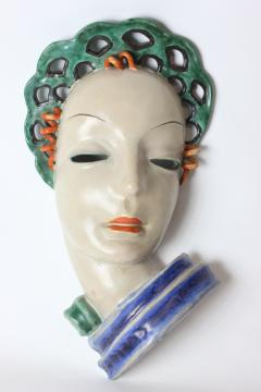 Gmundner Keramik Gmundner Keramik Art Deco mask of a Woman 1930 Austria - 1502969