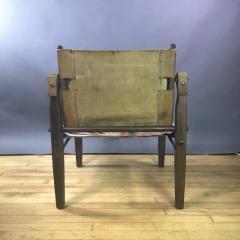 Gold Medal American Mid Century Modern Safari Chair 1940s Turkish Kilim Seating - 1747438