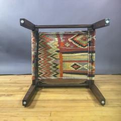 Gold Medal American Mid Century Modern Safari Chair 1940s Turkish Kilim Seating - 1747441
