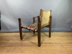 Gold Medal Mid Century Gold Medal Safari Chair Turkish Kilim Seating - 1792303