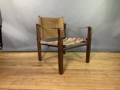 Gold Medal Mid Century Gold Medal Safari Chair Turkish Kilim Seating - 1792304