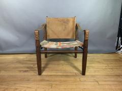Gold Medal Mid Century Gold Medal Safari Chair Turkish Kilim Seating - 1792305