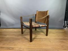 Gold Medal Mid Century Gold Medal Safari Chair Turkish Kilim Seating - 1792308