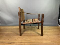 Gold Medal Mid Century Gold Medal Safari Chair Turkish Kilim Seating - 1792309