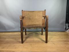 Gold Medal Mid Century Gold Medal Safari Chair Turkish Kilim Seating - 1792310