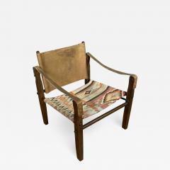 Gold Medal Mid Century Gold Medal Safari Chair Turkish Kilim Seating - 1793868