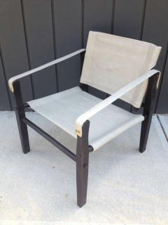 Gold Medal Pair of 1950s Grey Leather Goldmedal Chair Co Chairs Styel Kare Klimt - 1681301