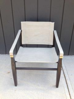 Gold Medal Pair of 1950s Grey Leather Goldmedal Chair Co Chairs Styel Kare Klimt - 1681302