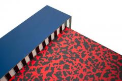 Grace Designs Ettore Sottsass Memphis Desk in Spugnatto Red Laminate from Grace Designs 1985 - 2142892