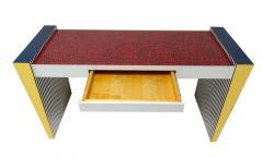 Grace Designs Ettore Sottsass Memphis Desk in Spugnatto Red Laminate from Grace Designs 1985 - 2142893