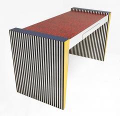 Grace Designs Ettore Sottsass Memphis Desk in Spugnatto Red Laminate from Grace Designs 1985 - 2142895