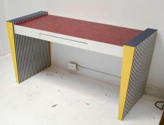 Grace Designs Ettore Sottsass Memphis Desk in Spugnatto Red Laminate from Grace Designs 1985 - 2142897