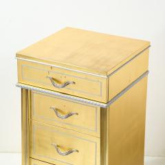 Grosfeld House 1940s Hollywood White Yellow Gilt and Lucite Side End Table by Grosfeld House - 1866303