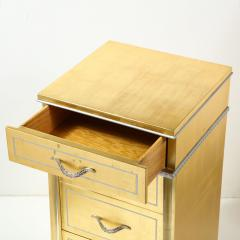 Grosfeld House 1940s Hollywood White Yellow Gilt and Lucite Side End Table by Grosfeld House - 1866304