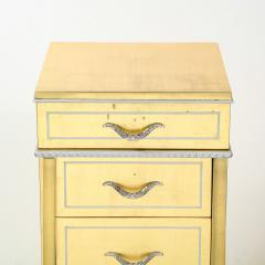 Grosfeld House 1940s Hollywood White Yellow Gilt and Lucite Side End Table by Grosfeld House - 1866305