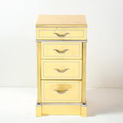 Grosfeld House 1940s Hollywood White Yellow Gilt and Lucite Side End Table by Grosfeld House - 1866314