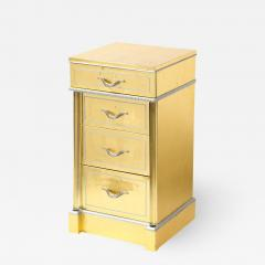 Grosfeld House 1940s Hollywood White Yellow Gilt and Lucite Side End Table by Grosfeld House - 1873492