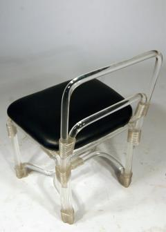 Grosfeld House 1940s Lucite Dining Table with Four Chairs by Grosfeld - 628404