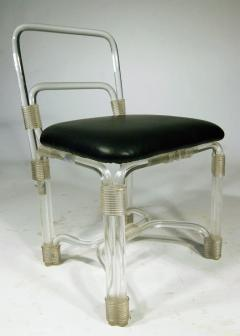 Grosfeld House 1940s Lucite Dining Table with Four Chairs by Grosfeld - 628405