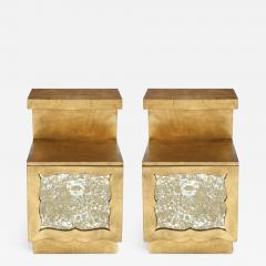 Grosfeld House Grosfeld House 22kt Gold Gilded Night Stands - 1109270