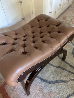 Grosfeld House Grosfeld House Bench in Tufted Lambskin Leather - 2066489