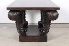 Grosfeld House Grosfeld House Carved Walnut Plume Coffee Table - 884632