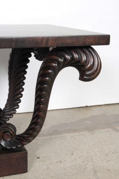 Grosfeld House Grosfeld House Carved Walnut Plume Coffee Table - 884633