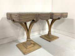 Grosfeld House Pair of Grosfeld House Plume Marble Top Side Tables - 1150951