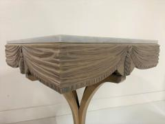 Grosfeld House Pair of Grosfeld House Plume Marble Top Side Tables - 1150955