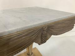 Grosfeld House Pair of Grosfeld House Plume Marble Top Side Tables - 1150957