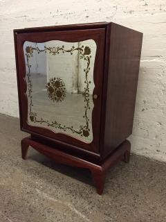 Grosfeld House Pair of Mahogany Grosfeld House Cabinets with Etched Mirrored Panels - 1162780