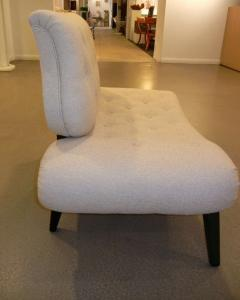 Grosfeld House Pair of Mid Century Grosfeld House Slipper Chairs Settees - 769177